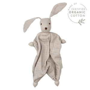 Hoppa Tino - Organic Muslin Bonding Doll - Grey