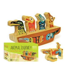 Animal Journey Learning Shapes Canoe