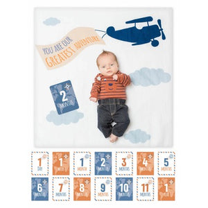 Greatest Adventure Lulujo Milestone Blanket and Cards