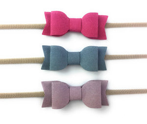 Blue, Lilac, Magenta - 3 Pack Bow Headbands by Baby Wisp