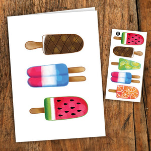Colourful Pops - PiCo Card + Tattoo