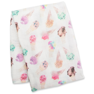 Ice Cream Lulujo Bamboo Muslin Swaddle Blanket