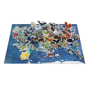 Myths and Legends - 350 piece 3D educational puzzle by Janod