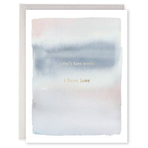 No Words - E. Frances Paper greeting card
