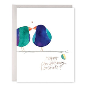 Lovebirds Anniversary - E. Frances Paper greeting card