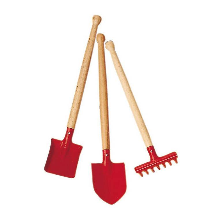 Metal Garden Tool Set - Red