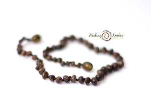 Molasses Olive Speckle necklace (13 inches)