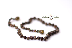 Molasses Olive Speckle necklace (11 inches)
