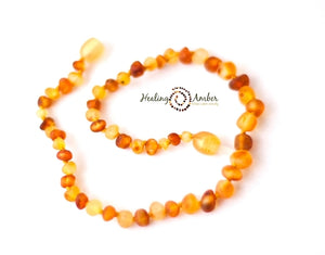 Raw Duo Light (gold and caramel)  necklace (13 inches)
