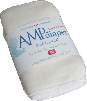 AMP Hemp Fleece Wipes (12)