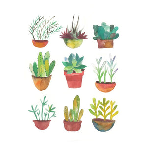 Succulents - Loose Leaves Paper Goods card