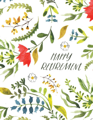 Happy Retirement - Loose Leaves Paper Goods card