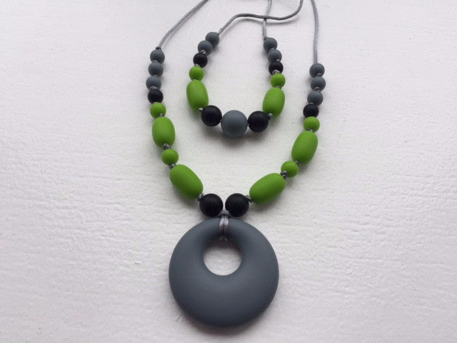 How I Adorn Thee, Teething Jewellery, Mom & Tot Set: Margarita Slate
