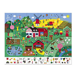 Farm, An Observation Puzzle - 24 piece puzzle by Janod