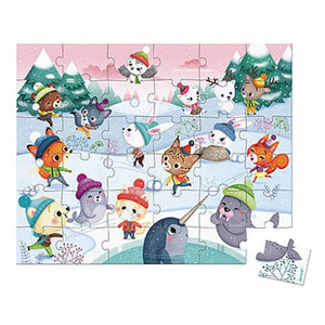 Snow Party - 36 piece puzzle by Janod