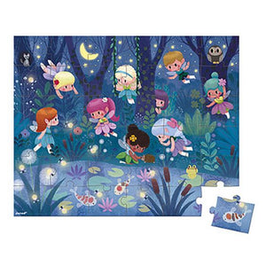 Fairies and Waterlilies - 36 piece puzzle by Janod