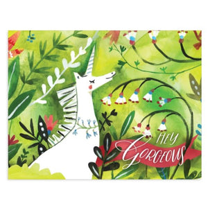 Gorgeous Unicorn - Loose Leaves Paper Goods card