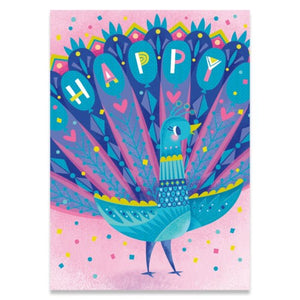 Peacock Birthday - Peaceable Kingdom cards