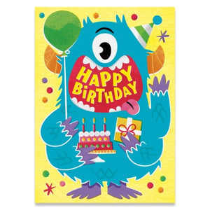 Birthday Monster - Fuzzy Texture - Peaceable Kingdom cards