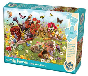 Cobble Hill Family Pieces - Garden Scene - 350 Piece Puzzle
