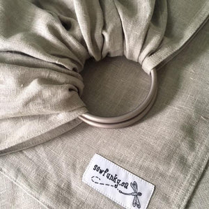 Mist Sewfunky Linen Ring Sling with Gathered Shoulder