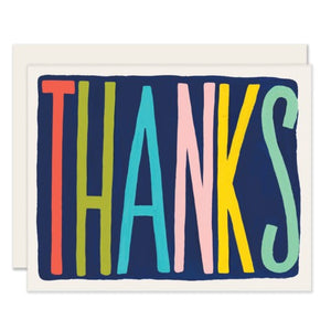 Colourful Thanks - Slightly cards