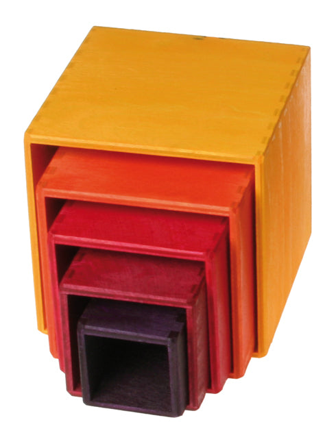 Grimm's - Stacking Boxes (Small, Yellow and Orange)