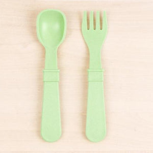 Leaf Re-Play Toddler Utensil Set (Fork and Spoon)