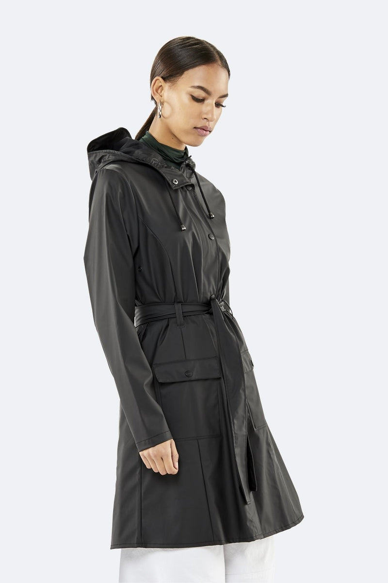 Rains Curve Jacket Black