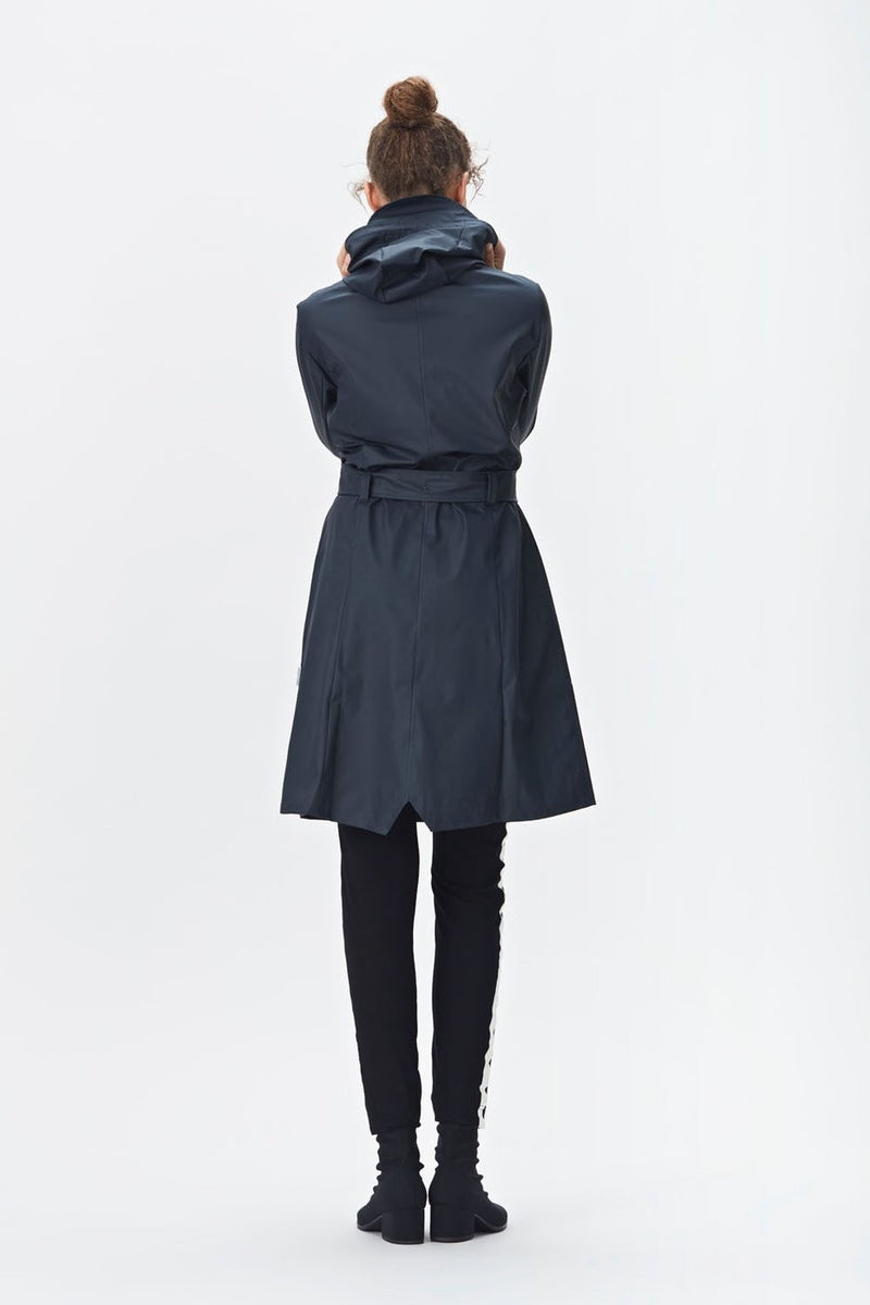 Rains Curve Jacket Blue