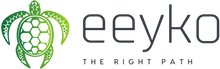The eeyko logo. An eco-friendly brand, eeyko is a store dedicated to selling eco-friendly products sold in eco friendly packaging