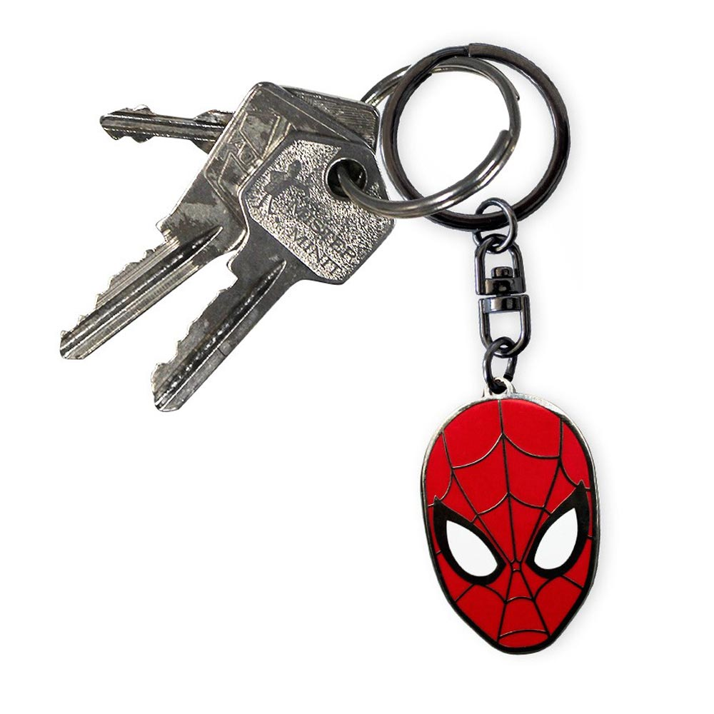 Spider-Man Web Face Keyring