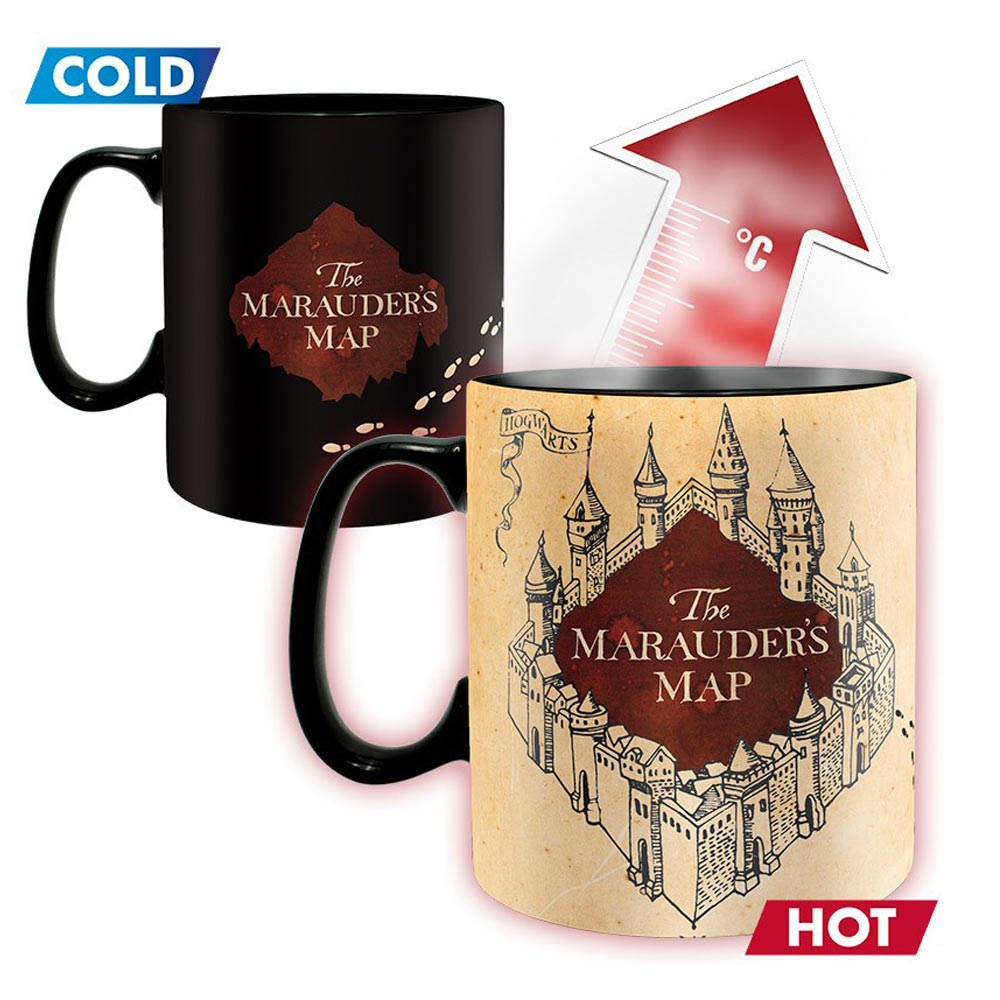 Harry Potter Marauder Map Heat Change King Size Mug
