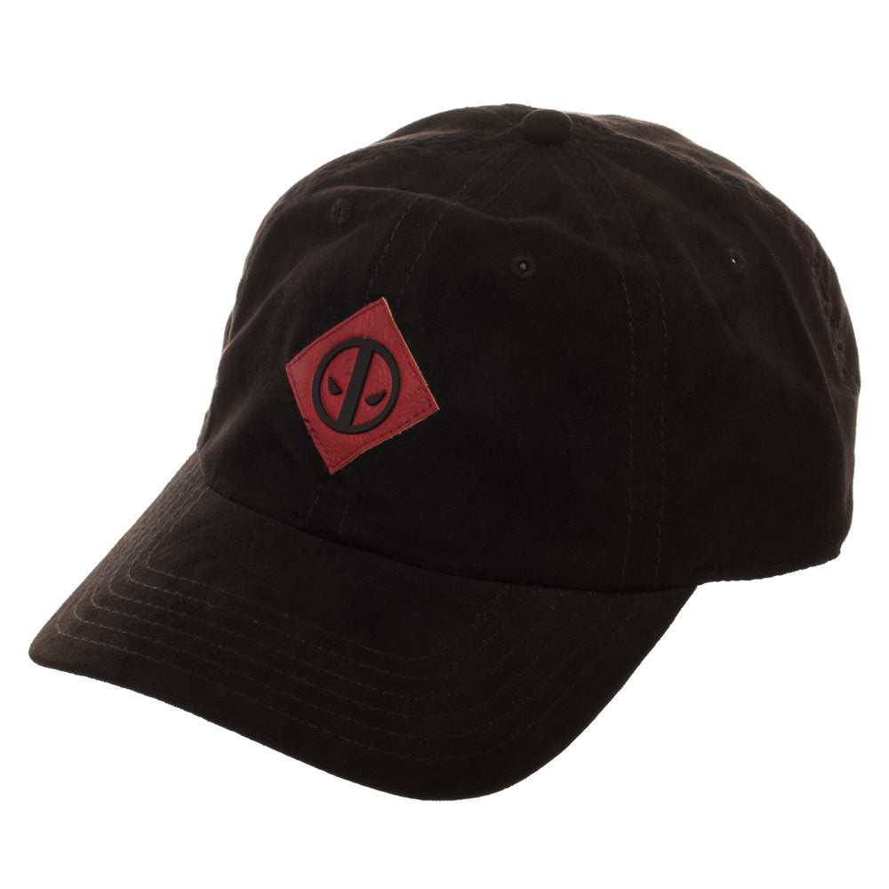 Deadpool Leather Logo Suede Adjustable Cap