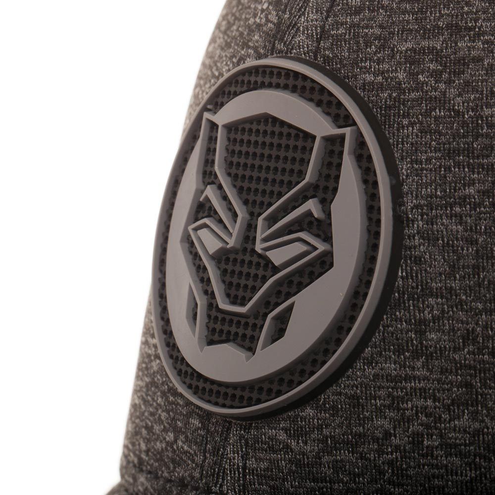 Black Panther Marvel Rubber Weld Logo Cationic Cap