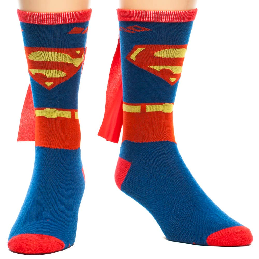 Superman Suit Up Costume Crew Socks