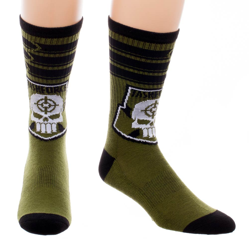 Suicide Squad Taskforce x Bullet Stripes Crew Socks Uk 9 -11