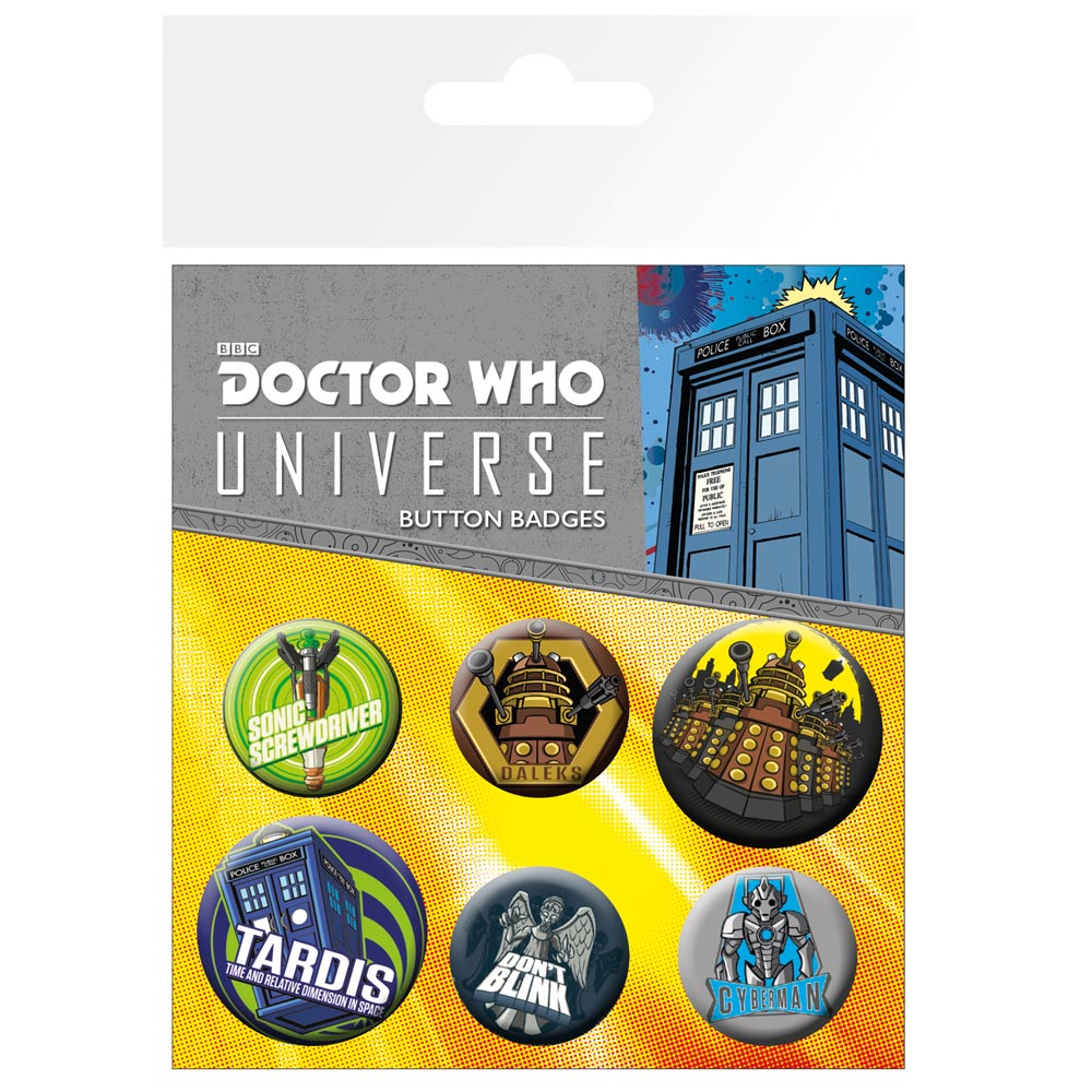 Doctor Who Alien Adventures Badge Pack