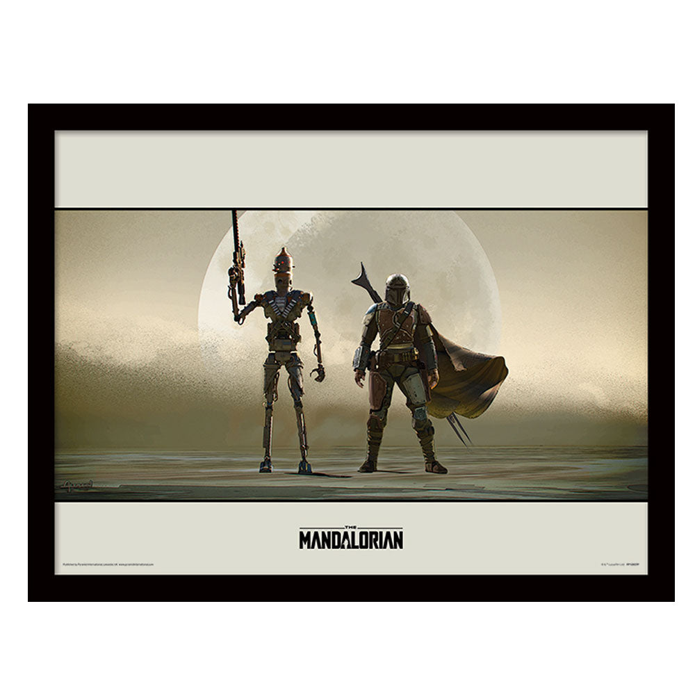 Star Wars The Mandalorian Duo Collector Framed Art Print 30cm x 40cm
