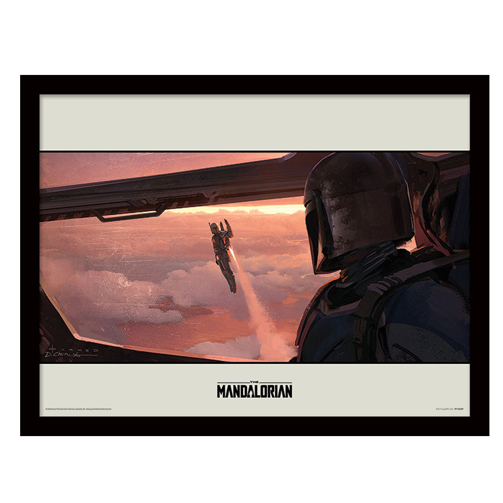 Star Wars The Mandalorian Fly Collector Framed Art Print 30cm x 40cm