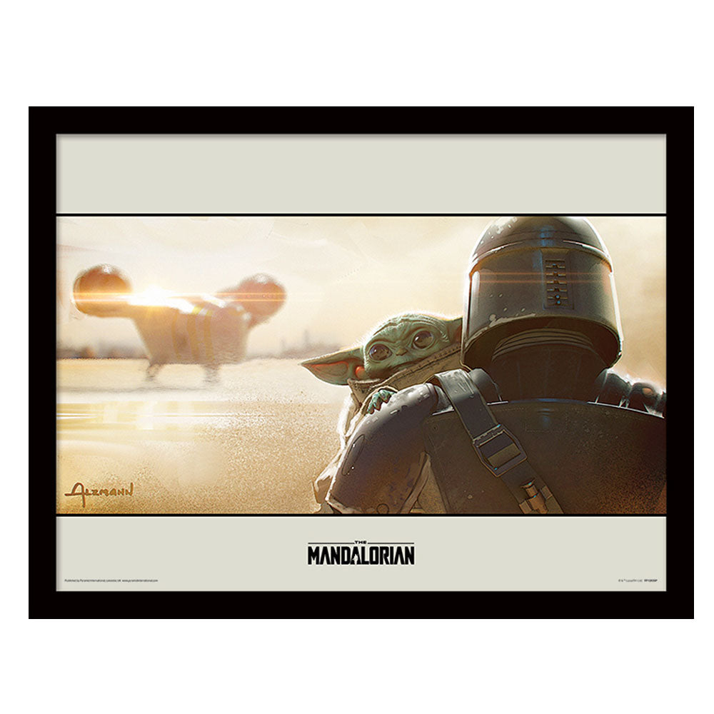 Star Wars The Mandalorian Shoulder Collector Framed Art Print 30cm x 40cm