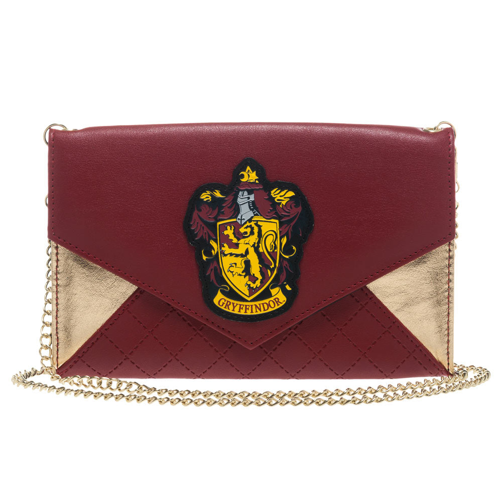 Harry Potter Gryffindor Quilted Envelope Purse with Chain
