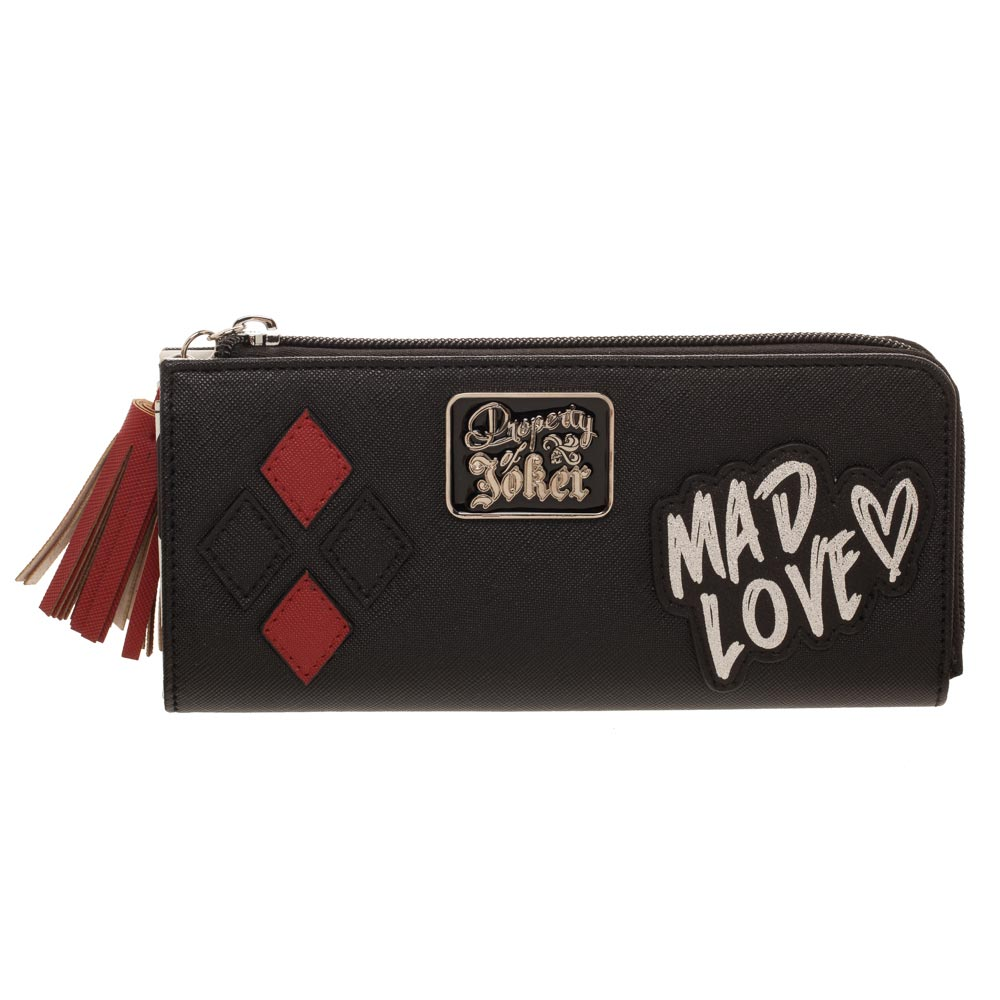 Harley Quinn Mad Love Joker Zipped Purse