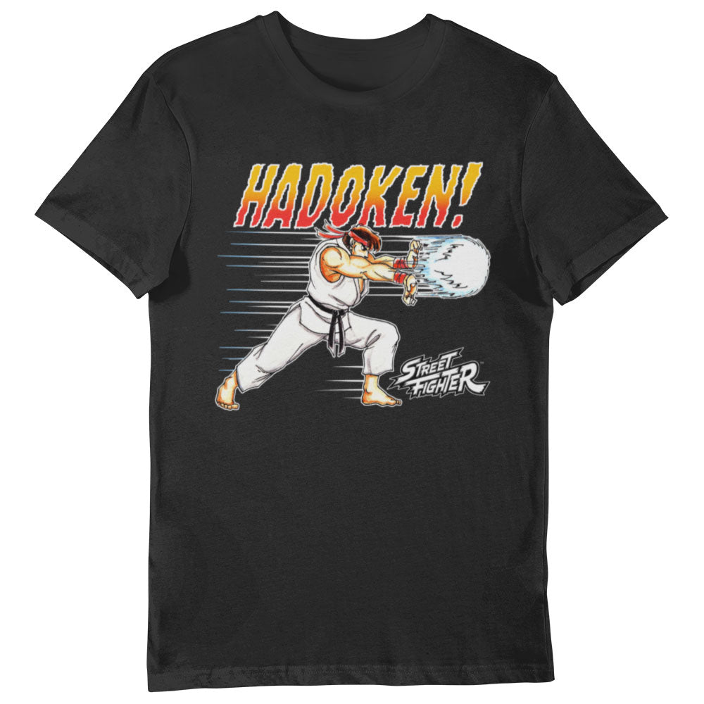 Street Fighter Hadoken! T-shirt Black
