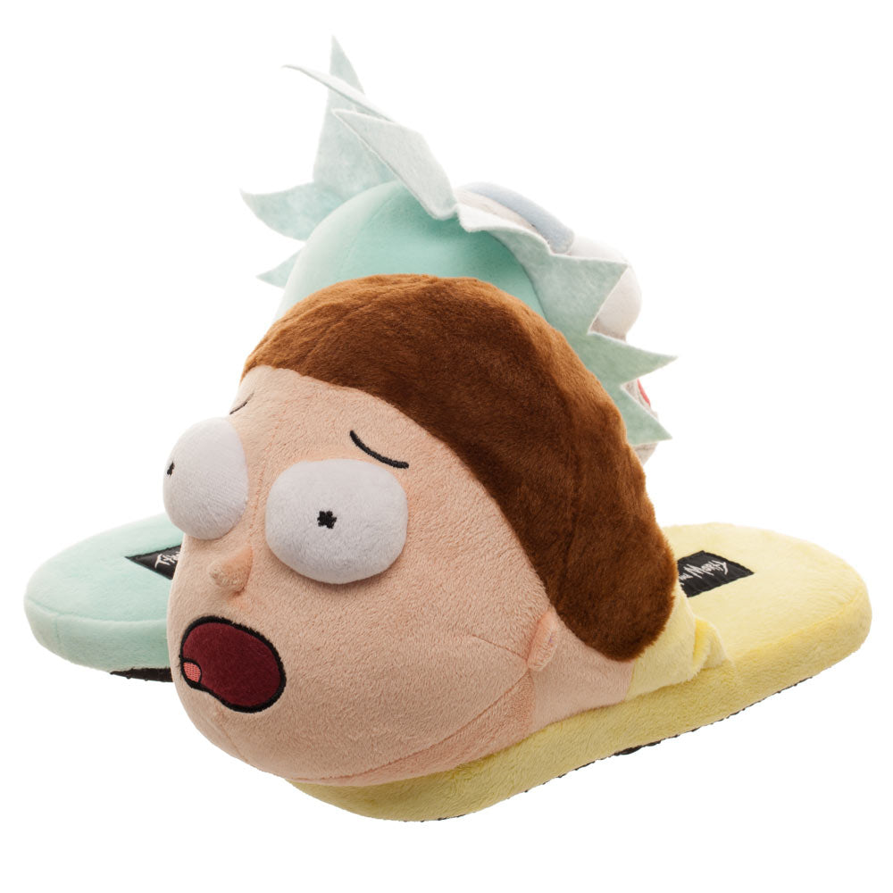 Rick & Morty 3D Character Plush Adult Slide Slippers