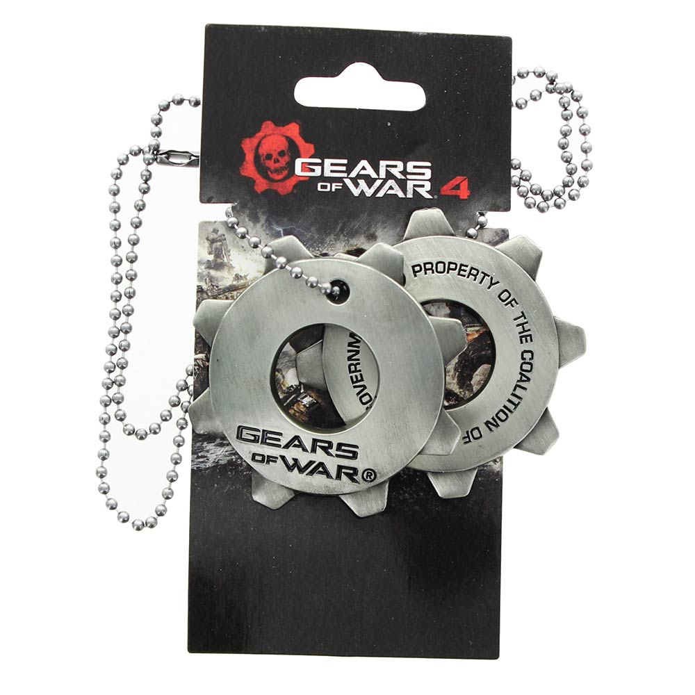 Gears of War Cog Pendentif Dog Tags