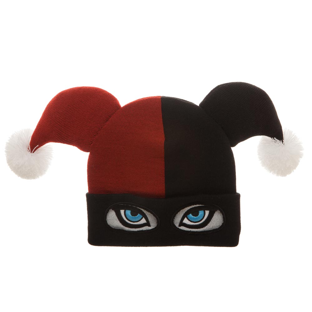 Harley Quinn Big Face Knit Beanie