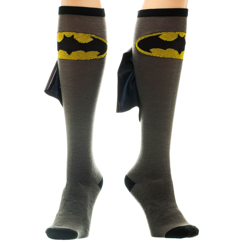 Batman Shiny Cape Knee High Socks