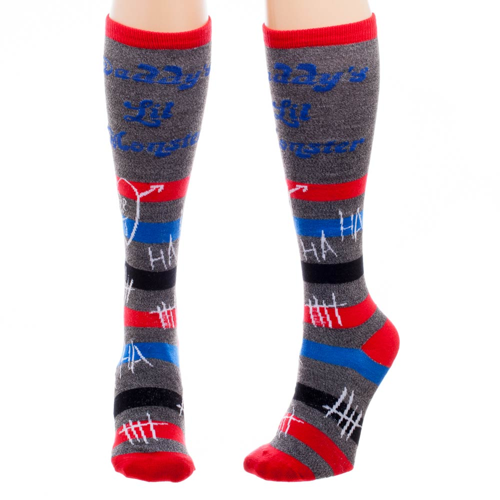 Harley Quinn Suicide Squad Knee High Closet Socks