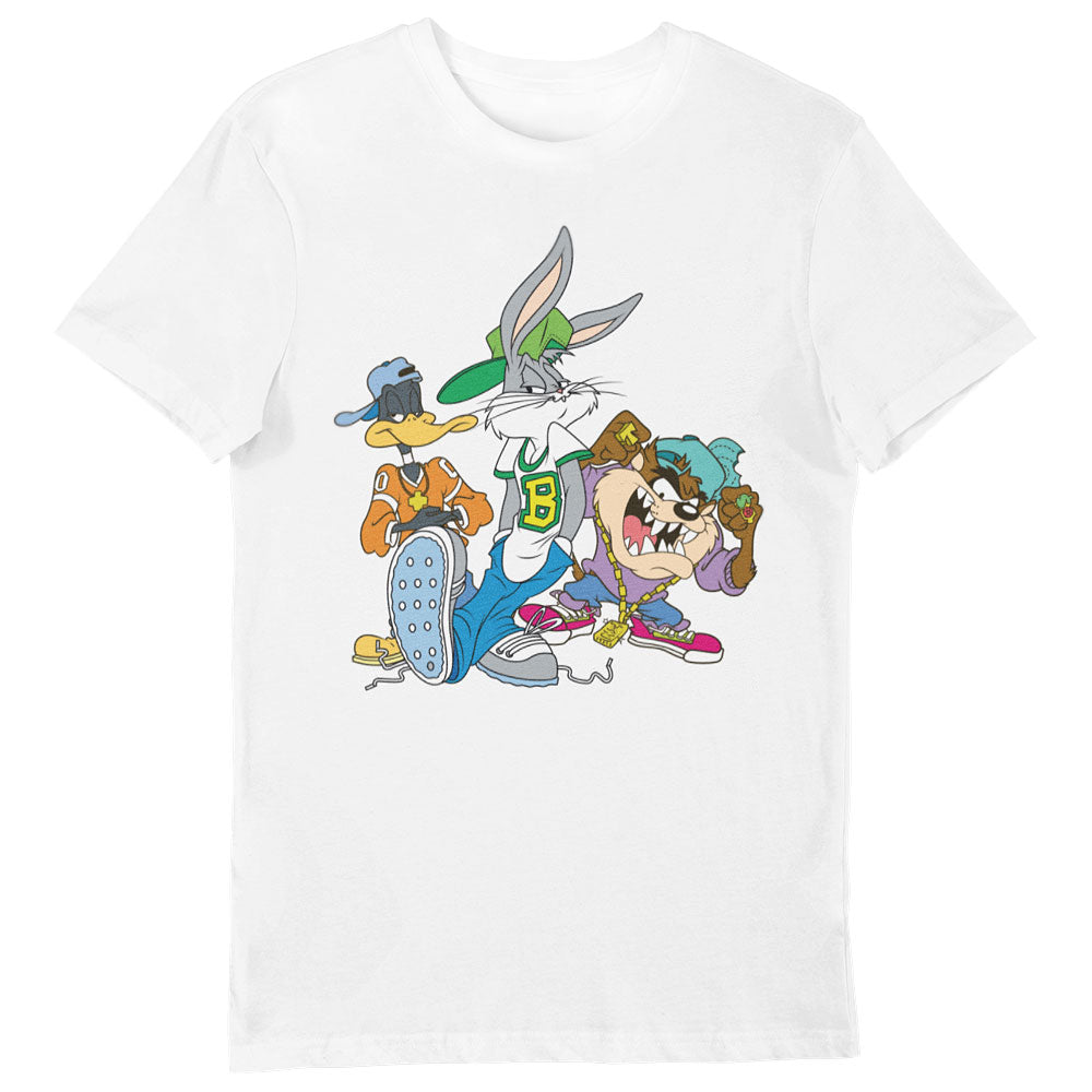 Looney Tunes Hip-Hop Group Shot T-Shirt White
